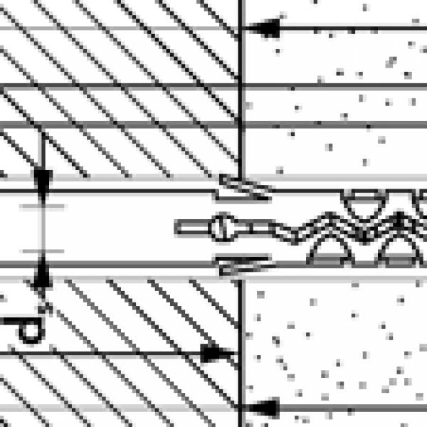MBR-SS Дюбель фасадный со стопорным шурупом с шестигранной головкой HEX