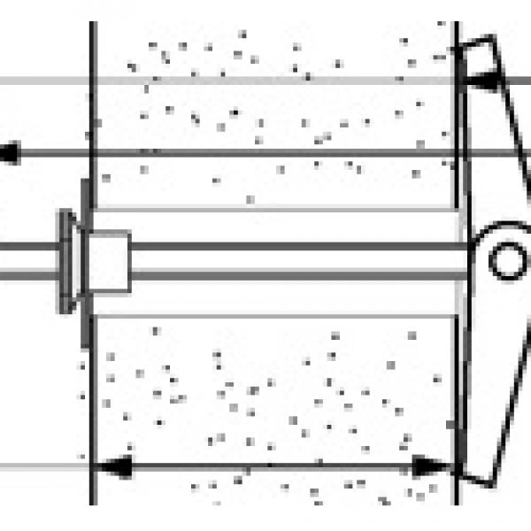 MF-MM Складной пружинный анкер с латунной втулочной гайкой